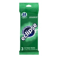 Eclipse Sugarfree Gum Spearmint - 54 Pieces