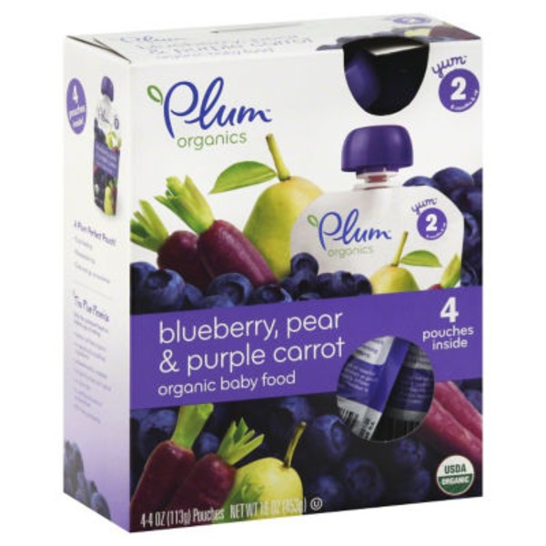 Plum Baby Blueberry Pear & Purple Carrot Stage 2 Baby Food