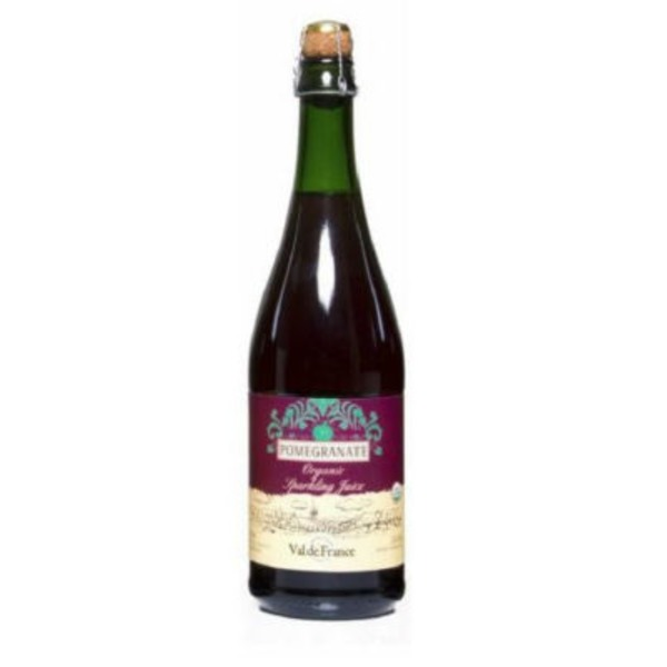 Val de France Organic Pomegranate Sparkling Juice