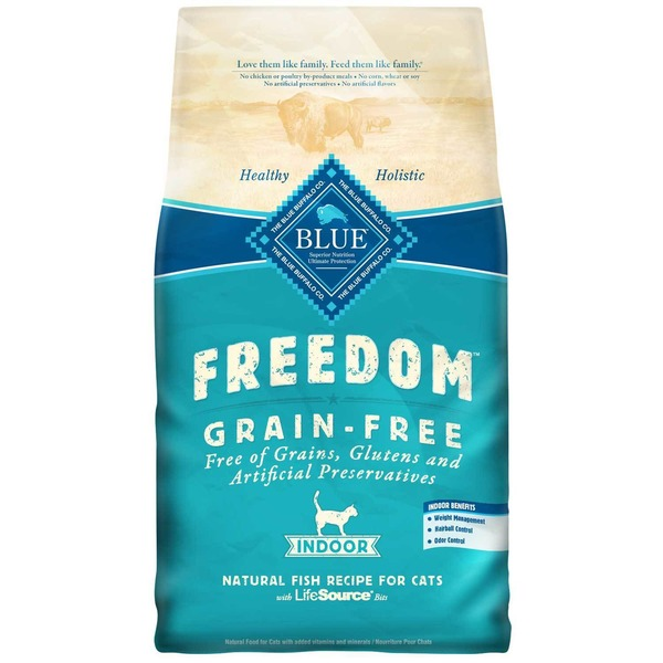 Blue Buffalo Natural Grain-Free Fish Recipe Food for Indoor Cats
