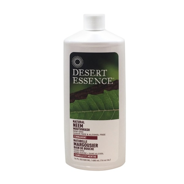 Desert Essence Natural Neem Cinnamint Mouthwash