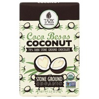 Taza Coconut Organic Stone Ground 70% Dark Chocolate Bar