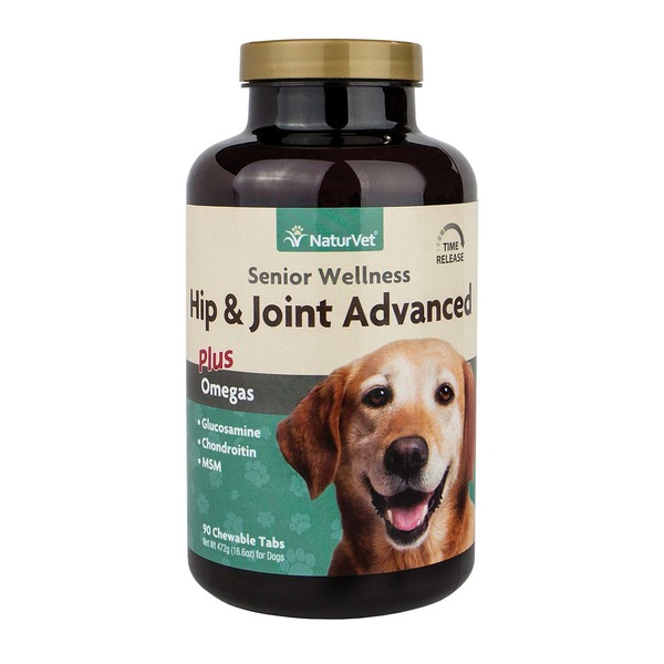 NaturVet Senior Joint Tablets Advanced Formula With Time Release For Dogs 90 Tablets