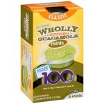 Wholly Guacamole 6 100 Calorie Snack Packs All Natural In Classic Guacamole, 12 oz
