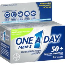 One A Day Men's 50+ Healthy Advantage Multivitamin Tablets, 50 Count