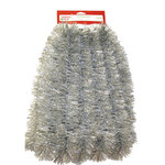 Young Craft 15' Soft and Silky Tinsel Garland Silver