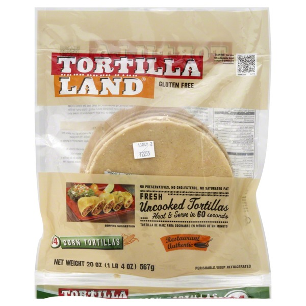 TortillaLand Uncooked Corn Tortillas