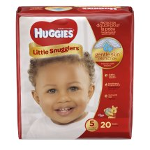 HUGGIES Little Snugglers Diapers, Size 5, 20 Diapers
