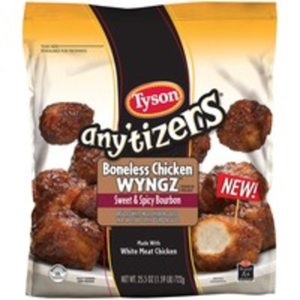 Any'tizers Sweet & Spicy Bourbon Boneless Chicken Wyngz