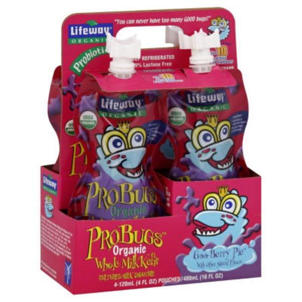 Lifeway ProBugs Goo-Berry Pie Organic Whole Milk Kefir Cultured Milk Smoothie