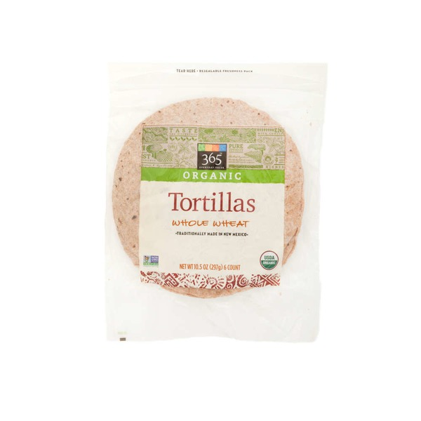 365 Organic Whole Wheat Tortillas 6 Count