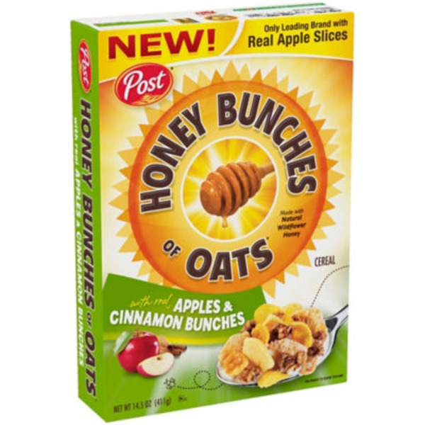 Honey Bunches Of Oats With Real Apples & Cinnamon Bunches Cereal