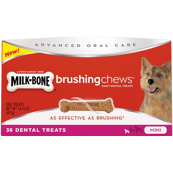 Milk-Bone Brushing Chews Daily Dental Treats - Mini Value Pack Dog Treats