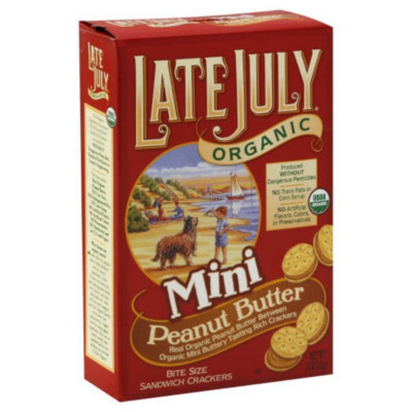 Late July Organic Bite Size Sandwich Crackers Mini Peanut Butter