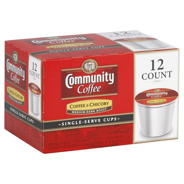 Community Coffee Coffee & Chicory Medium-Dark Roast Single-Serve Cups