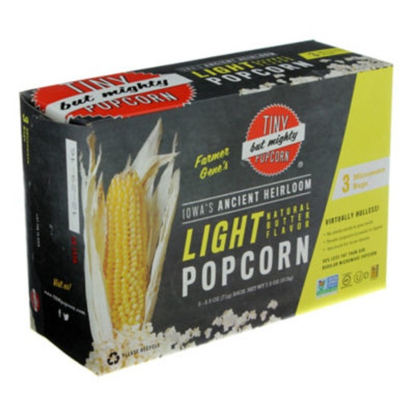 Tiny But Mighty Popcorn Natural Butter Flavor Light Popcorn