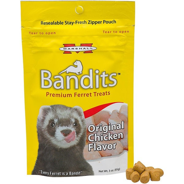 Marshall Pet Products Bandits Premium Chicken Ferret Treats 3 Oz.