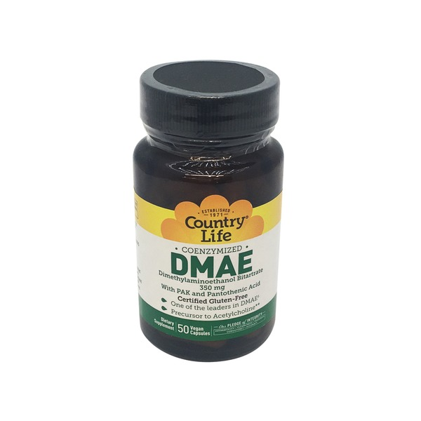 Country Life DMAE 350 mg Vegetarian Capsules