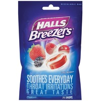 Halls Breezers Cool Berry Pectin Throat Drops
