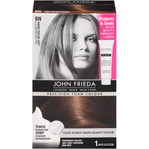 John Frieda Hair Color Precision Foam Colour Brilliant Brunette Light Natural Brown 6N Hair Color