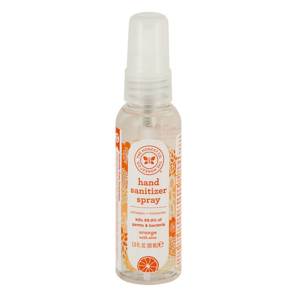The Honest Company Hand Sanitizer Spray Orange With Aloe