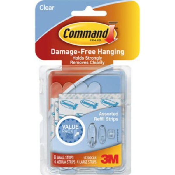 3m Command Clear Assorted Refill Strips