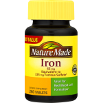 Nature Made Iron Dietary Supplement Tablets, 65mg, 260 ct