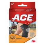 ACE Brand Compression Knee Support, L/XL, Breathable