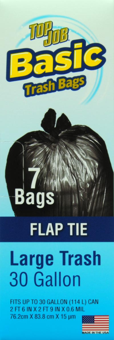 Top Job Flap Tie Trash Bags