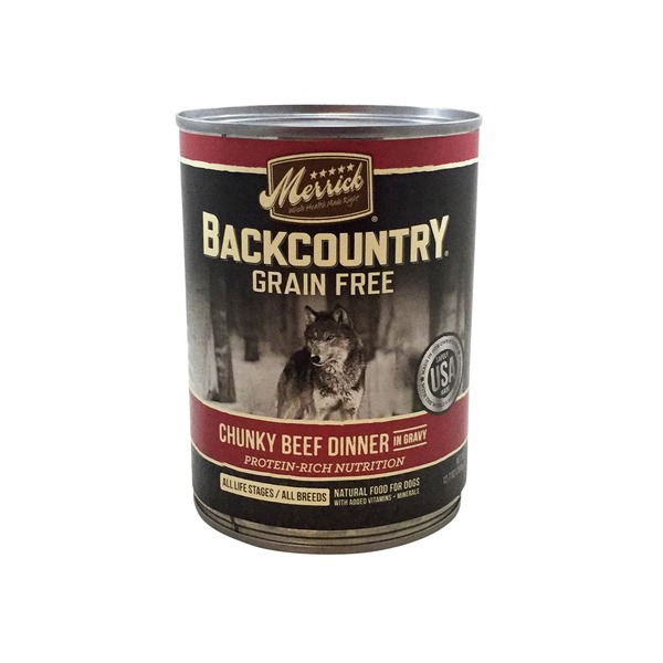 Merrick Backcountry Grain Free Chunky Beef Dinner Dog Food