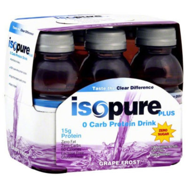 Isopure Protein Drink 0 Carb Grape Frost