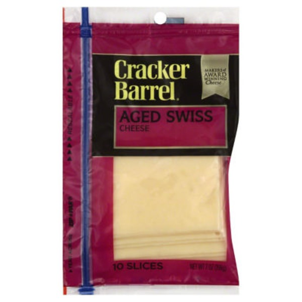 Cracker Barrel Swiss Aged Slices Cheese