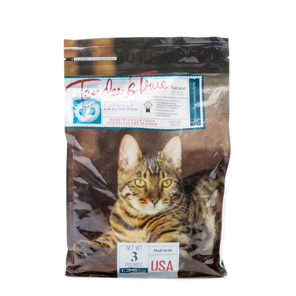 Tender And True Pet Food Premium Cat Food Made With Certified Ocean-Caught Seafood