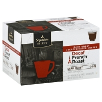 Signature SELECT Coffee Pods French Roast Decaffeinated