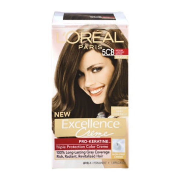 Excellence Creme 5CB Warmer Medium Chestnut Brown Hair Color