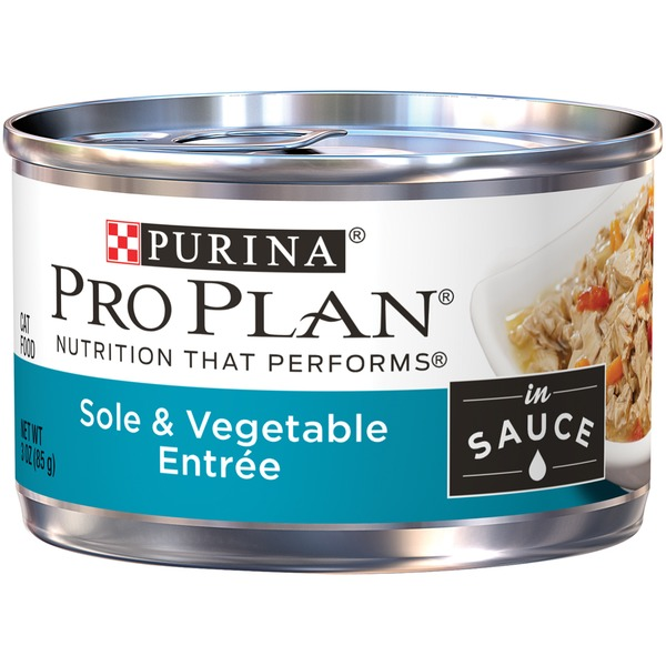 Pro Plan Cat Wet Adult Sole & Vegetable Entree in Sauce Cat Food