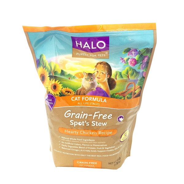 Halo Spot's Stew Grain Free Hearty Chicken Recipe Cat Dry Food