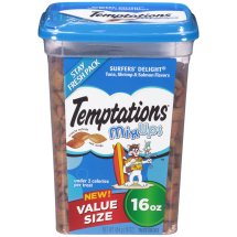 TEMPTATIONS MixUps Treats for Cats SURFER'S DELIGHT Flavor 16 Ounces, 16.0 OZ