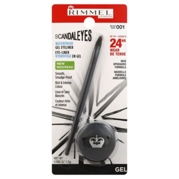Rimmel Waterproof Gel Eyeliner Black 001