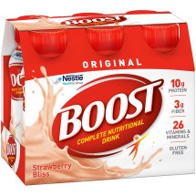 BOOST ORIGINAL Complete Nutritional Drink, Strawberry Bliss, 8 fl oz Bottle, 6 Ct