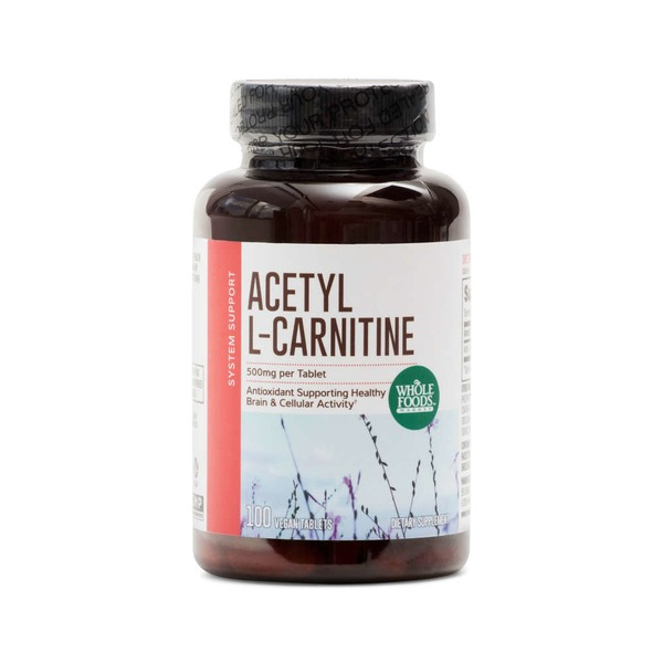 Whole Foods Market Acetyl L-Carnitine 500mg Vegetarian Capsules