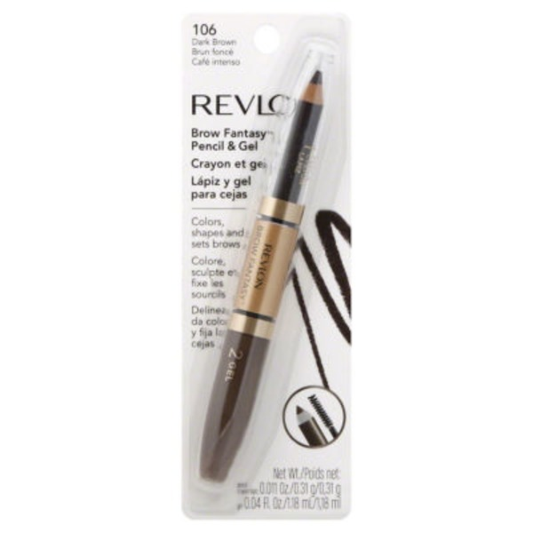 Revlon Brow Fantasy Brow Pencil & Gel -  Dark Brown