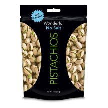 Wonderful Pistachios, Roasted, No Salt, 8oz Resealable Bag