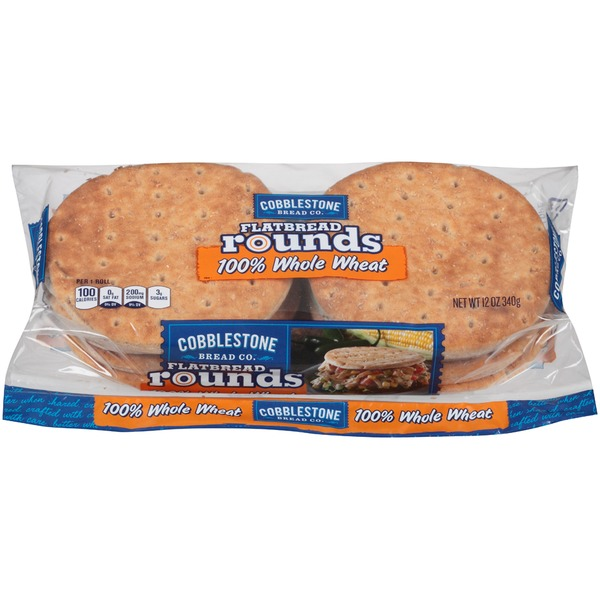 Cobblestone Mill 100% Whole Wheat Flatbread Rounds