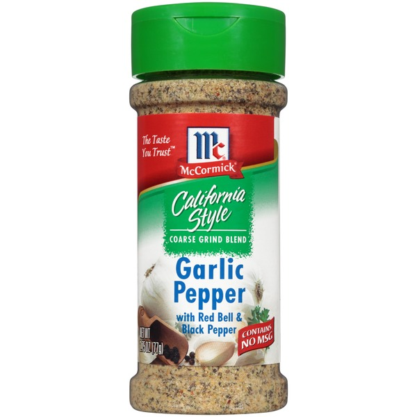 Mccormick California Style Coarse Grind Blend Garlic Pepper