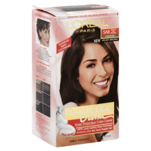 Excellence Creme Triple Protection 5AB Cooler Mocha Ash Brown Hair Color