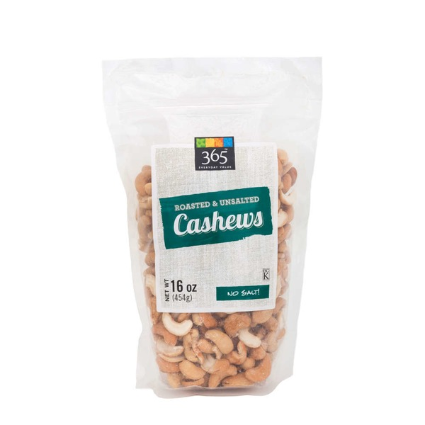 365 Roasted & Unsalted Cashews