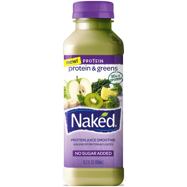 Naked Juice Protein & Greens Juice Smoothie, No Sugar Added
