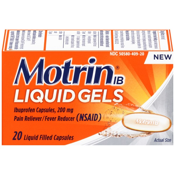 Motrin® IB Pain Reliever/Fever Reducer Liquid Gels