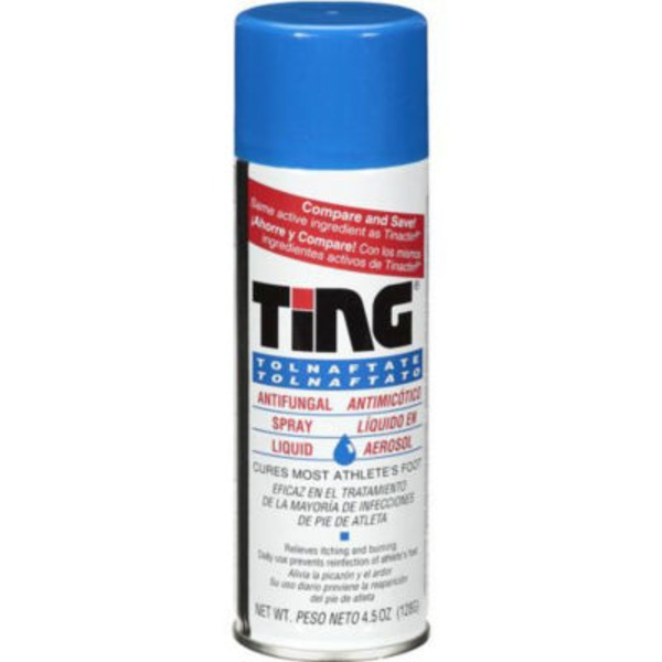 Ting Athlete's Foot Spray Antifungal Spray Liquid Cool Relief, Ting Pie De Atleta En Aerosol Liquido Antimicotico En Aerosol Alivio Fresca